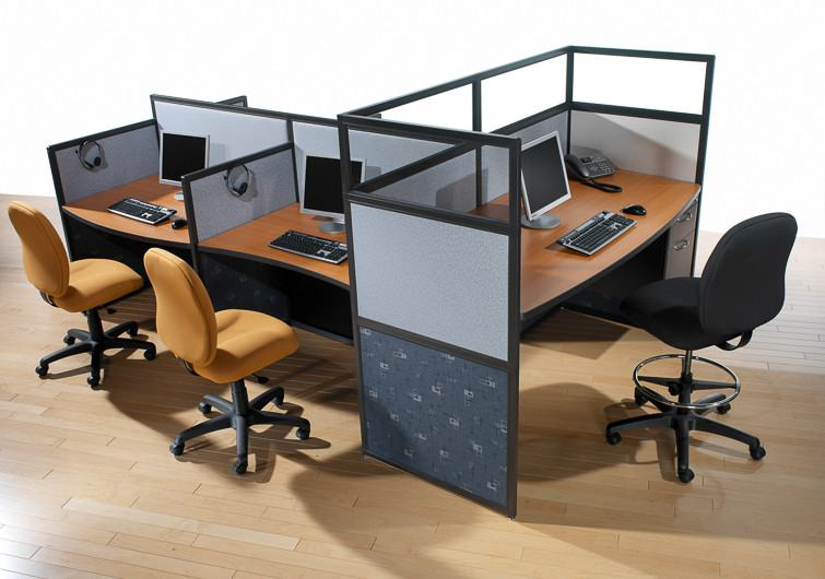 Call center cubicles custom designed and manufactured to for Center table design for office