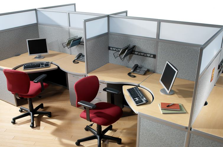 Call center office design images for Office desk layout
