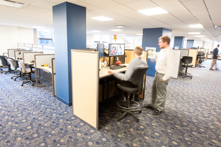 Increase productivity through call center furniture design for Office design and productivity