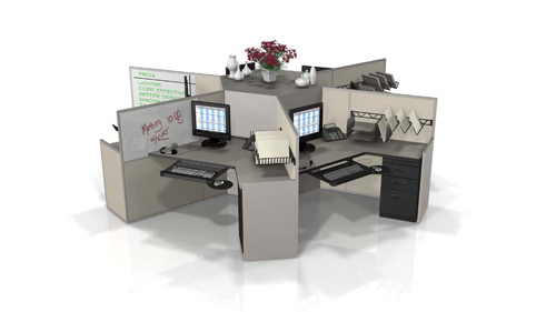 Office Furniture Solution Pod Workstations By Interior