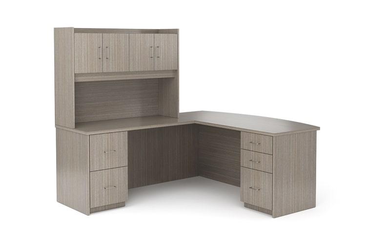 Aveera Casegoods L Shaped Desk Credenza Hutch min