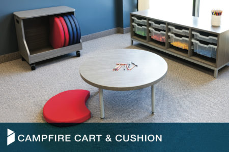 Campfire Cart and Cushions - Interior Concepts